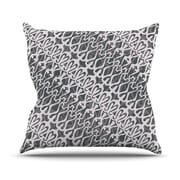 KESS InHouse Silver Lace Throw Pillow; 26'' H x 26'' W