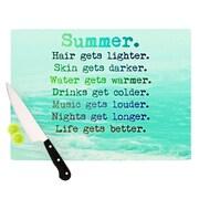 KESS InHouse Summer XXL Cutting Board; 11.5'' H x 15.75'' W x 0.15'' D