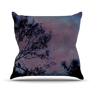 KESS InHouse Twilight Throw Pillow; 18'' H x 18'' W