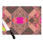 KESS InHouse New Wave Zebra Cutting Board; 8.25'' H x 11.5'' W x 0.25'' D