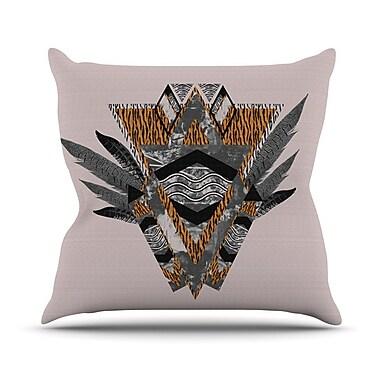 KESS InHouse Indian Feather Throw Pillow; 20'' H x 20'' W