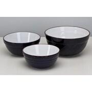 Omniware 3 Piece Mixing Bowl Set; Navy Blue