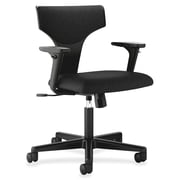 Basyx 17'' Back Height Task Chair with Arms; Black