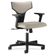 Basyx 17'' Back Height Task Chair with Arms; Graystone