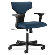 Basyx 17'' Back Height Task Chair with Arms; Navy