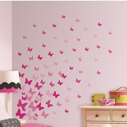 Room Mates Flutter Butterflies Peel and Stick Wall Decal