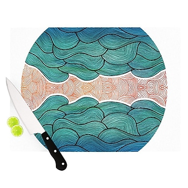 KESS InHouse Ocean Flow Cutting Board; 11.5'' H x 15.75'' W x 0.15'' D