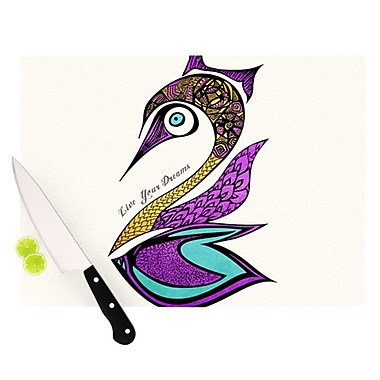 KESS InHouse Dreams Swan Cutting Board; 8.25'' H x 11.5'' W x 0.25'' D