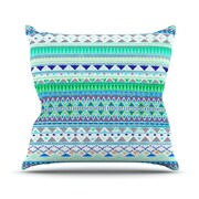 KESS InHouse Emerald Chenoa Throw Pillow; 16'' H x 16'' W