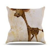 KESS InHouse Georgey The Giraffe Throw Pillow; 18'' H x 18'' W