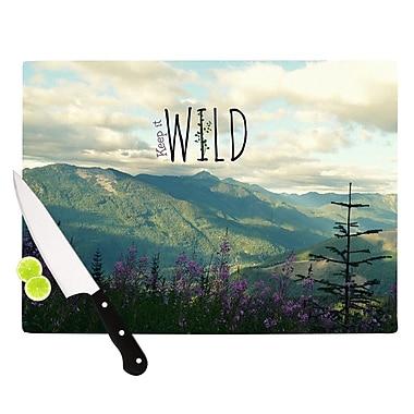 KESS InHouse Keep It Wild Cutting Board; 8.25'' H x 11.5'' W x 0.25'' D