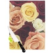 KESS InHouse Vintage Roses Cutting Board; 11.5'' H x 15.75'' W x 0.15'' D