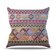 KESS InHouse Tribal Native Throw Pillow; 18'' H x 18'' W