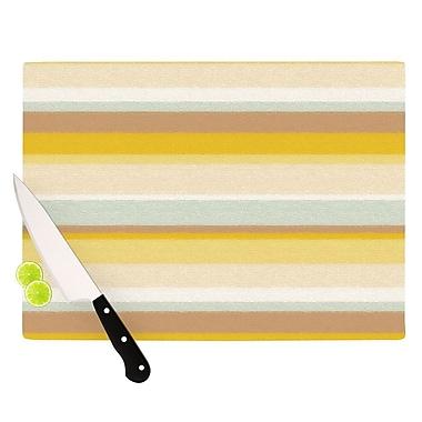 KESS InHouse Desert Stripes Cutting Board; 8.25'' H x 11.5'' W x 0.25'' D
