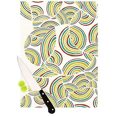 KESS InHouse Rainbow Sky Cutting Board; 8.25'' H x 11.5'' W x 0.25'' D