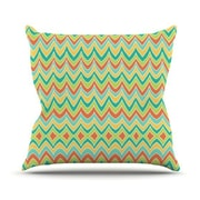 KESS InHouse Bright and Bold Polyester Throw Pillow; 18'' H x 18'' W