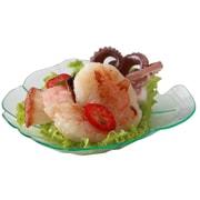 Restaurantware Amuse Bouche Shell Plate (100 Count); Seagreen