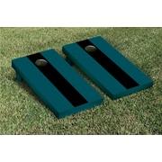 Victory Tailgate Matching No Stripe Version 1 Cornhole Boards Game Set; Midnight Green / Black