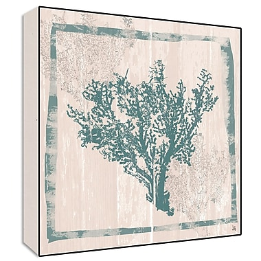 Green Leaf Art Coral Painting Print