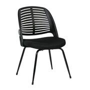 Ave Six Tyler Armless Guest Chair; Black
