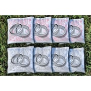 Victory Tailgate Interlocking Silver Rings Wedding All Weather Cornhole Bag Set
