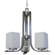 Whitfield Lighting Chianna 3-Light Shaded Chandelier; Satin Steel