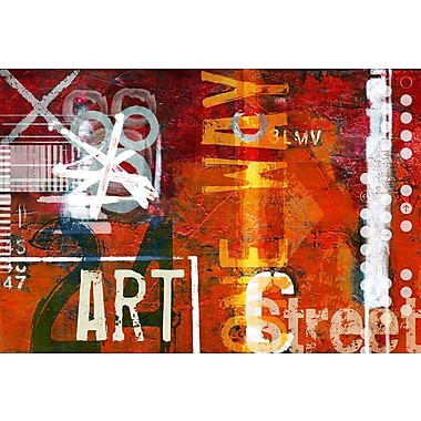 TAF DECOR Art Street Red Area Rug; 5'10'' x 9'