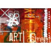 TAF DECOR Art Street Red Area Rug; 59'' H x 78'' W x 0.5'' D