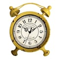 Cheungs Table Clock; Distressed Yellow