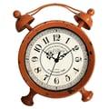Cheungs Table Clock; Distressed Orange