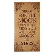 Cheungs Shoot For The Moon Wooden Wall Decor