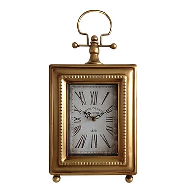 Cheungs Classic Rectangle Table Clock; Gold
