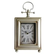 Cheungs Classic Rectangle Table Clock; Silver