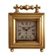 Cheungs Classic Square Table Clock; Gold