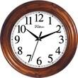 Ashton Sutton 12'' Round Quartz Analog Solid Wood Case Wall Clock