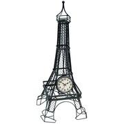 Ashton Sutton Metal Eiffel Quartz Table Clock