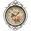 Ashton Sutton Bella Jardiniere Quartz Analog Indoor / Outdoor Wall Clock