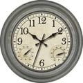 Ashton Sutton 16'' Indoor / Outdoor Wall Clock