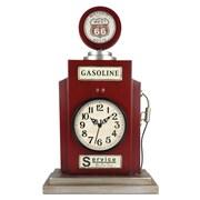 Ashton Sutton Gas Pump Shaped Table Clock