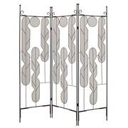 Screen Gems 71'' x 58'' Iron Art 3 Panel Room Divider