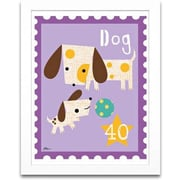 Timeless Frames Dog Animal Stamp Framed Textual Art