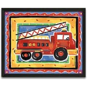 Timeless Frames Fire Engine Framed Painting Print