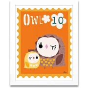Timeless Frames Owl Animal Stamp Framed Textual Art