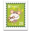 Timeless Frames Monkey Animal Stamp Framed Textual Art