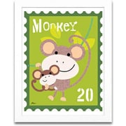 Timeless Frames Monkey Animal Stamp Framed Textual Art