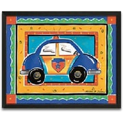 Timeless Frames Police Car Framed Painting Print
