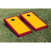 Victory Tailgate Border Matching Version 2 Cornhole Boards Game Set; Yellow Gold / Dark Red
