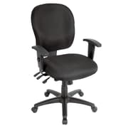 Eurotech Seating Racer Mid-Back Chair; Charcoal