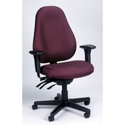 Eurotech Seating Seat Slider Ratchet Back Chair; Burgundy