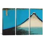 iCanvas Katsushika Hokusai Mount Fuji 3 Piece on Wrapped Canvas Set; 40'' H x 60'' W x 0.75'' D